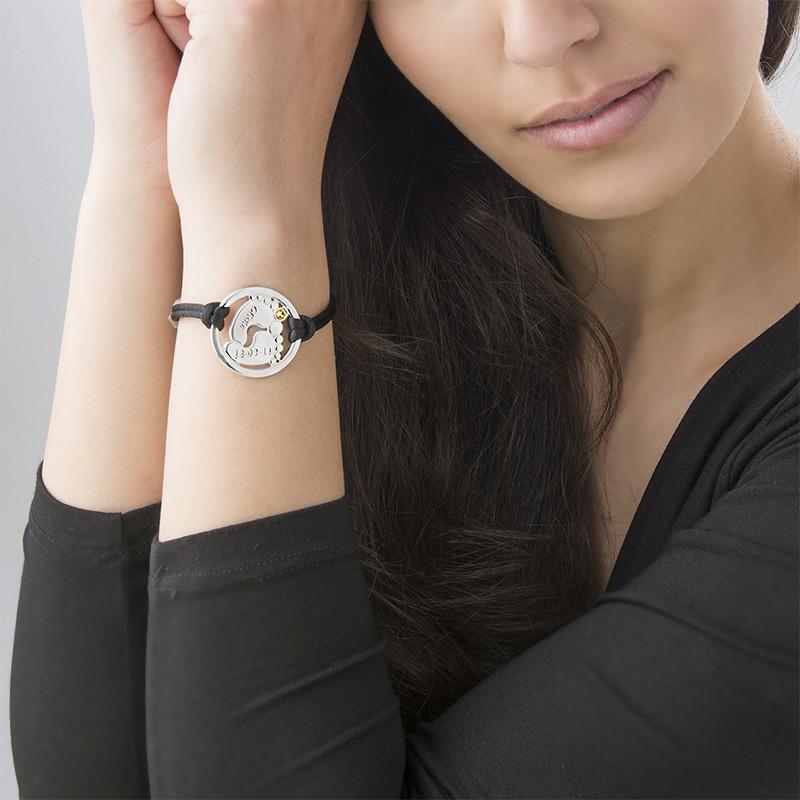 Uitgesneden Babyvoeten Armband  in 925 Zilver - 3