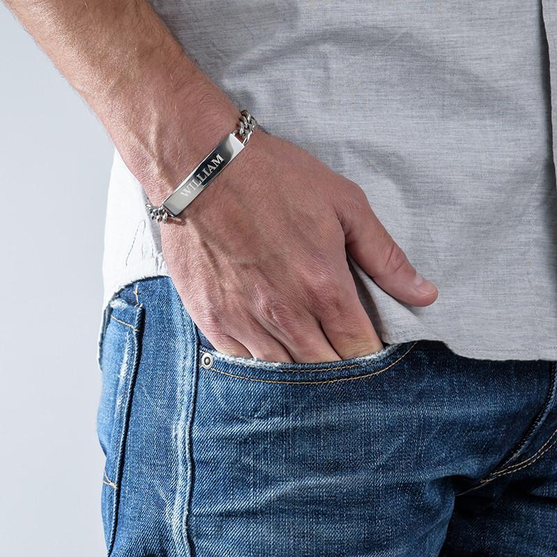 ID Armband voor Mannen in Roestvrij Staal - 1