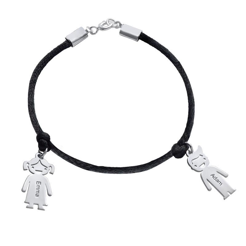 Moeders Echt Zilver gegraveerde 'Meisjes' Armband