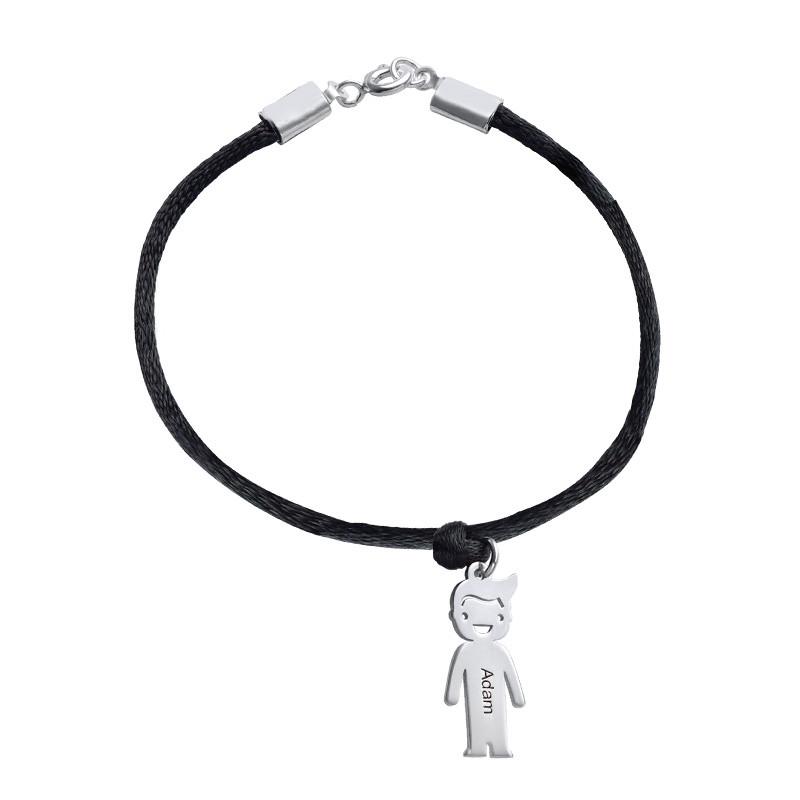 Moeders Echt Zilver gegraveerde 'Meisjes' Armband - 1