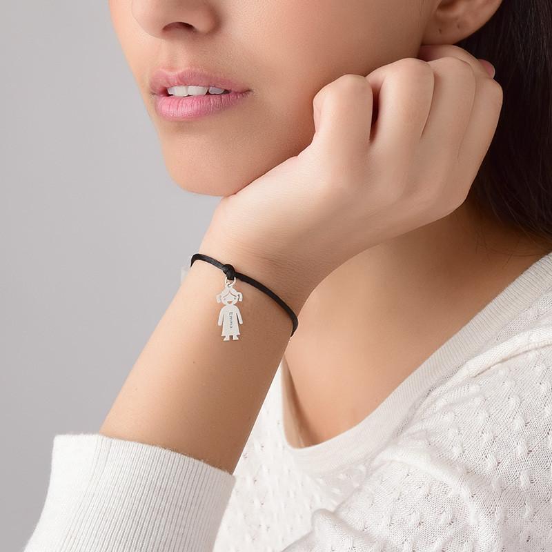 Moeders Echt Zilver gegraveerde 'Meisjes' Armband - 3