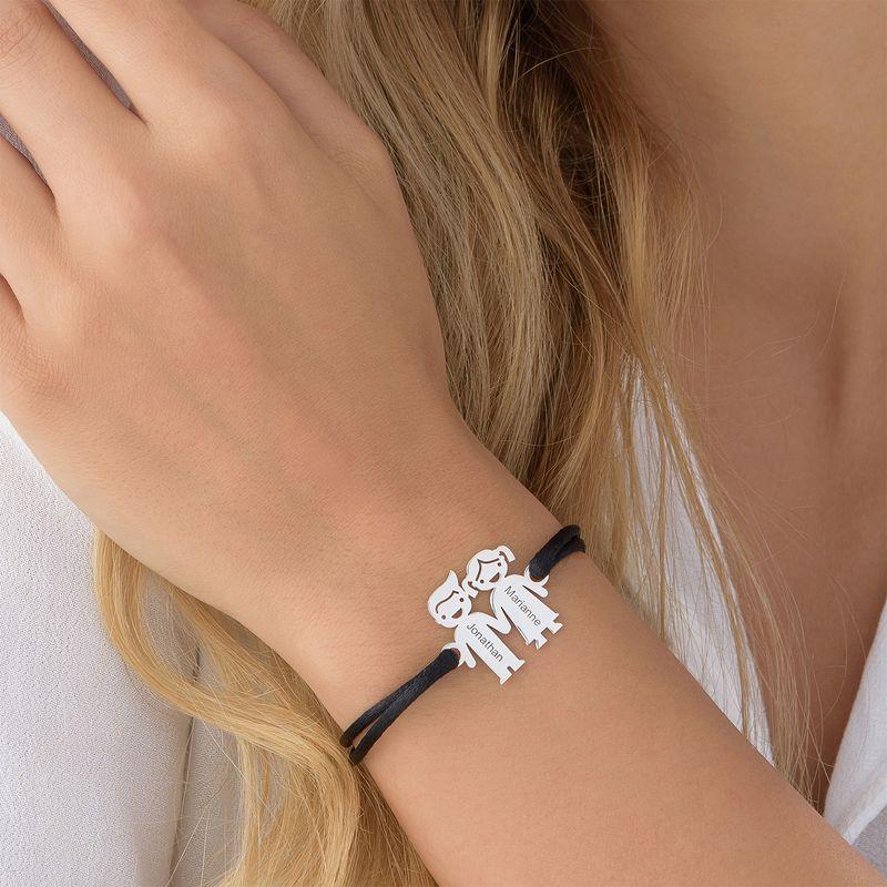 Hand in Hand Kinder Bedel Armband aan Koord - 3