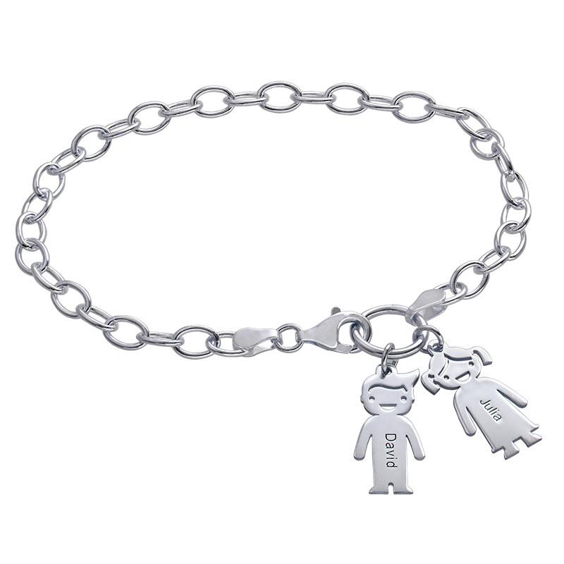 Bedelarmband met Kind-hangers in 925 Zilver