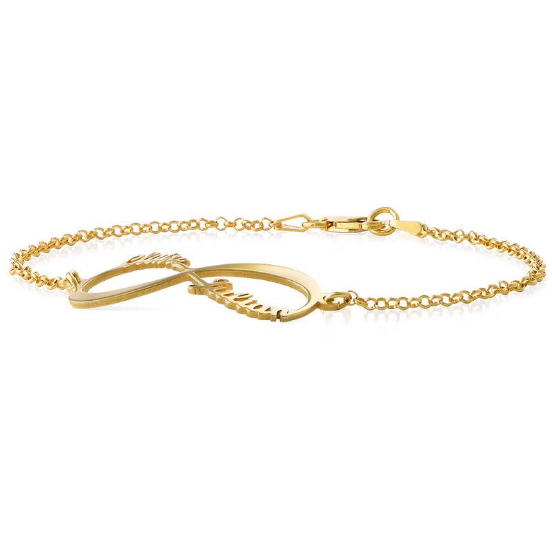 Infinity Armband met Namen in Goudverguld Zilver - 1