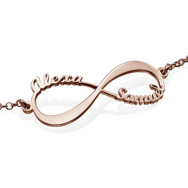 Infinity Armband met Namen in roségoud verguld zilver - 2