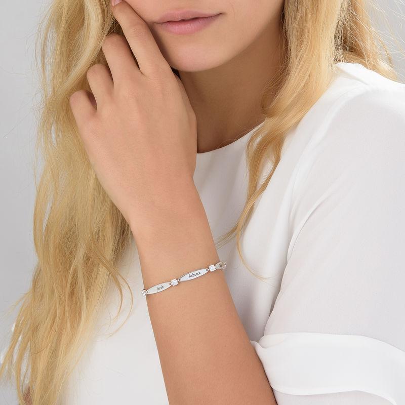Gegraveerde Mama Armband met Cubic Zirkonia - 4
