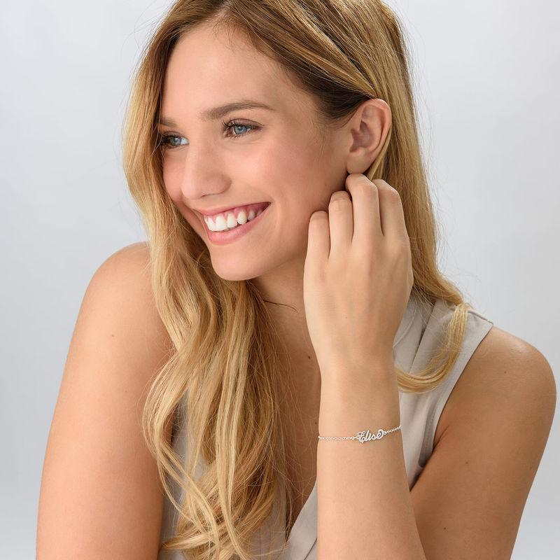 """Kleine Sterling Zilveren Armband met Naam in """"Carrie""""-stijl - 1"""