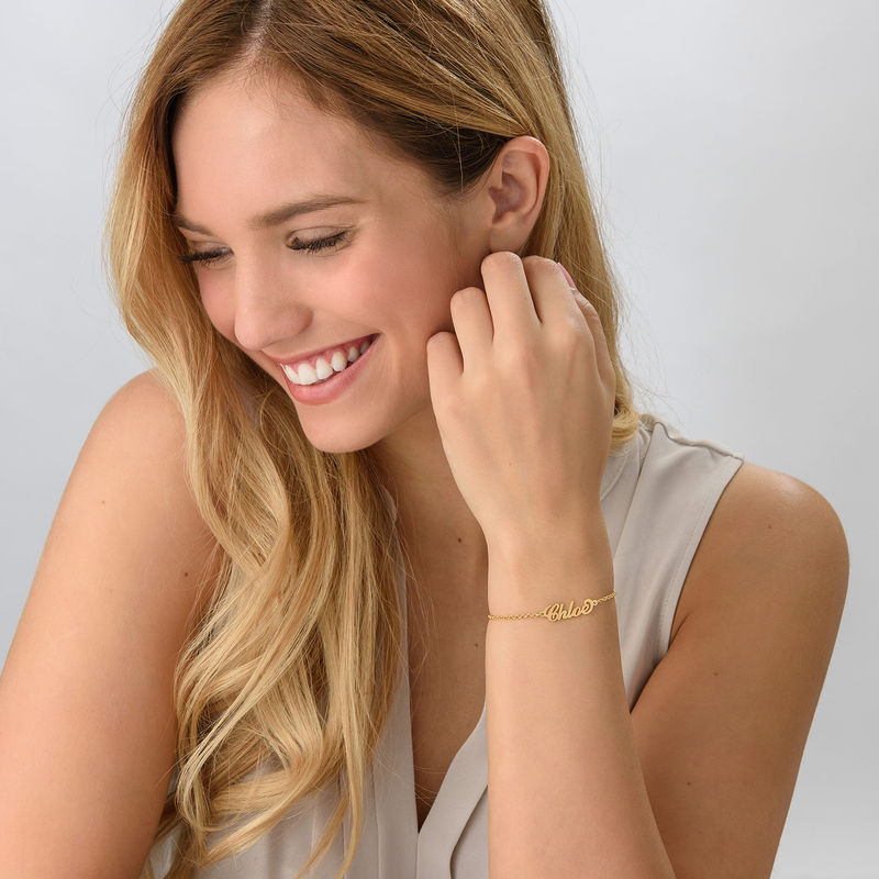 "Kleine 18k Vergulde Gepersonaliseerde Armband in ""Carrie""-stijl - 1"