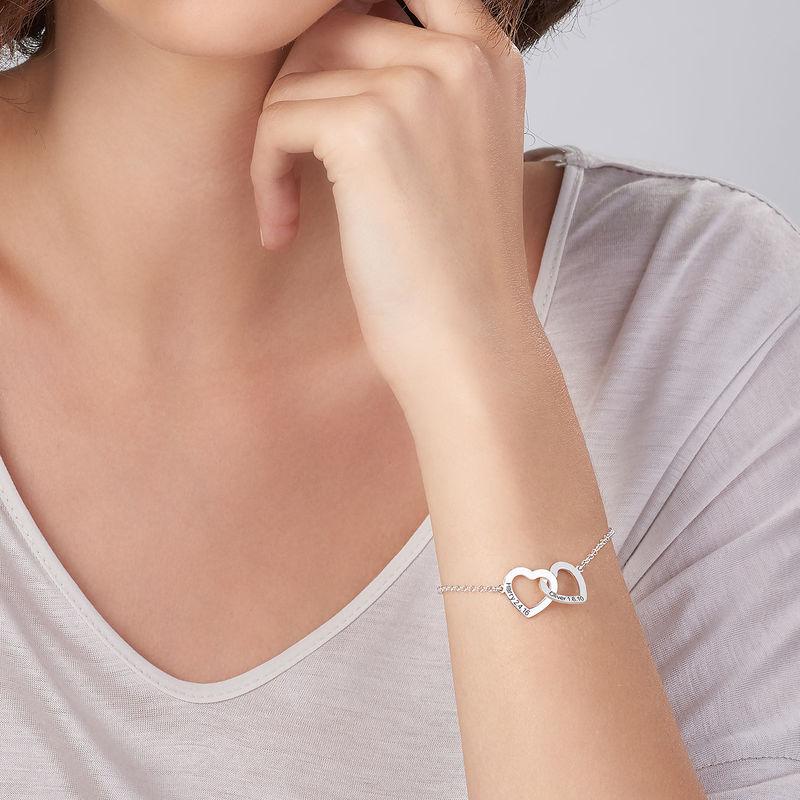 Sterling Zilveren Armband met Verstrengelde Hartjes - 3