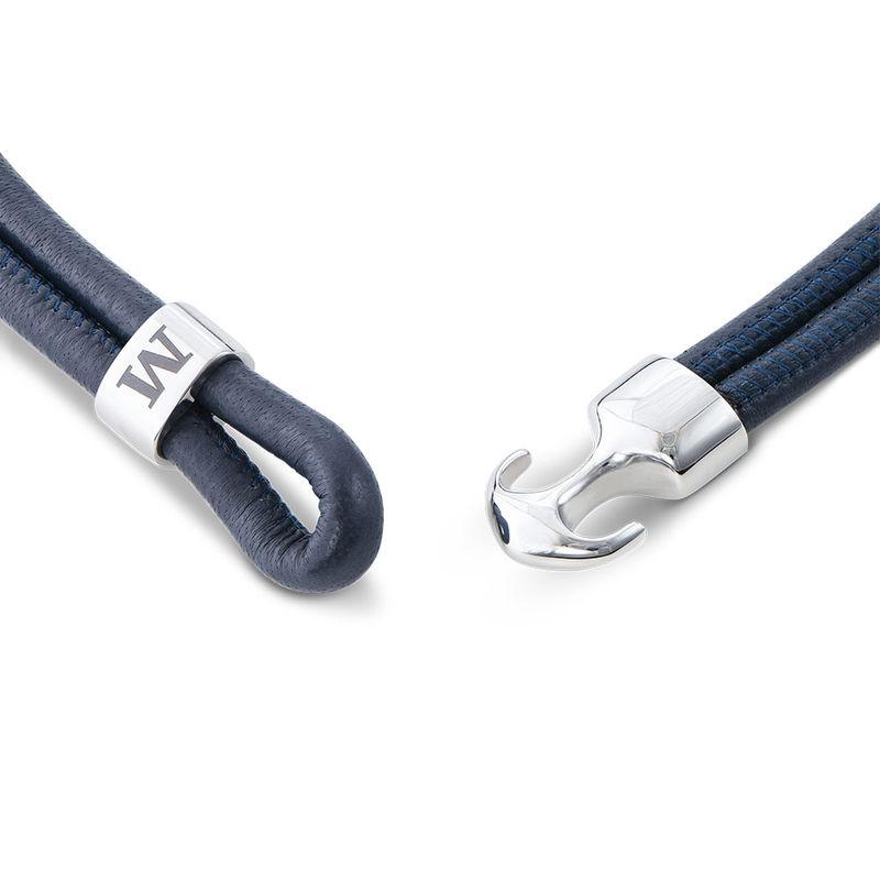 Heren armband met anker en gegraveerd initiaal in RVS - 2