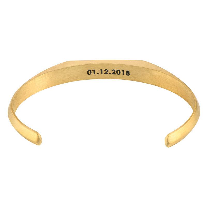 Smalle heren manchet armband in vergulde uitvoering - 1