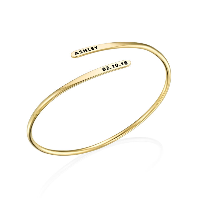 Verstelbare vergulde gegraveerde armband - 1