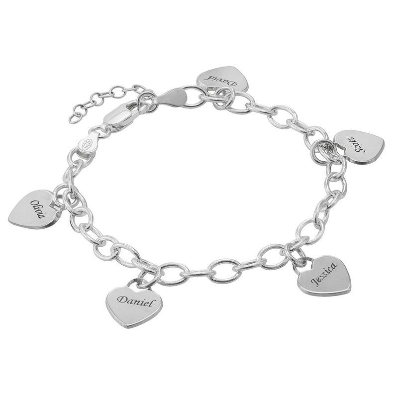 Armband met Hart Bedeltjes in 925 Zilver