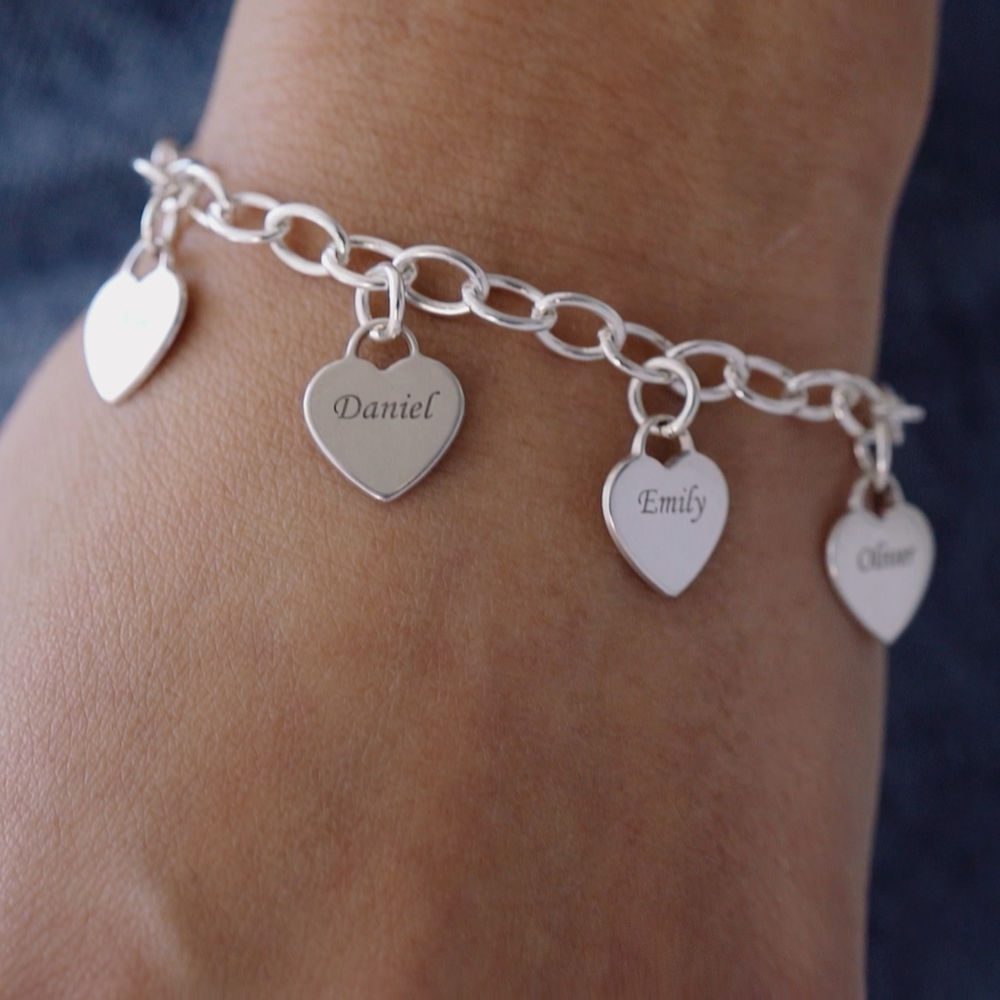 Armband met Hart Bedeltjes in 925 Zilver - 3