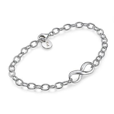 Infinity Armband met Bedeltje in 925 Zilver