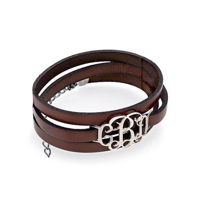 Wikkel Monogram Lederen Armband - 1