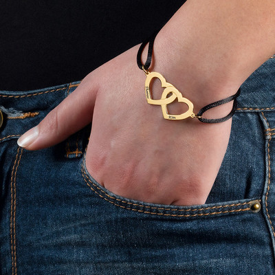 Hart in Hart Armband in Goud Verguld Zilver - 2