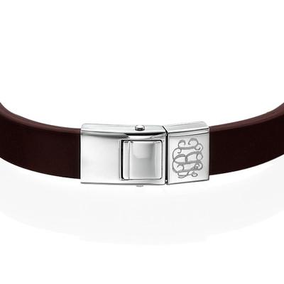 Lederen Armband met Monogram voor Heren - 1