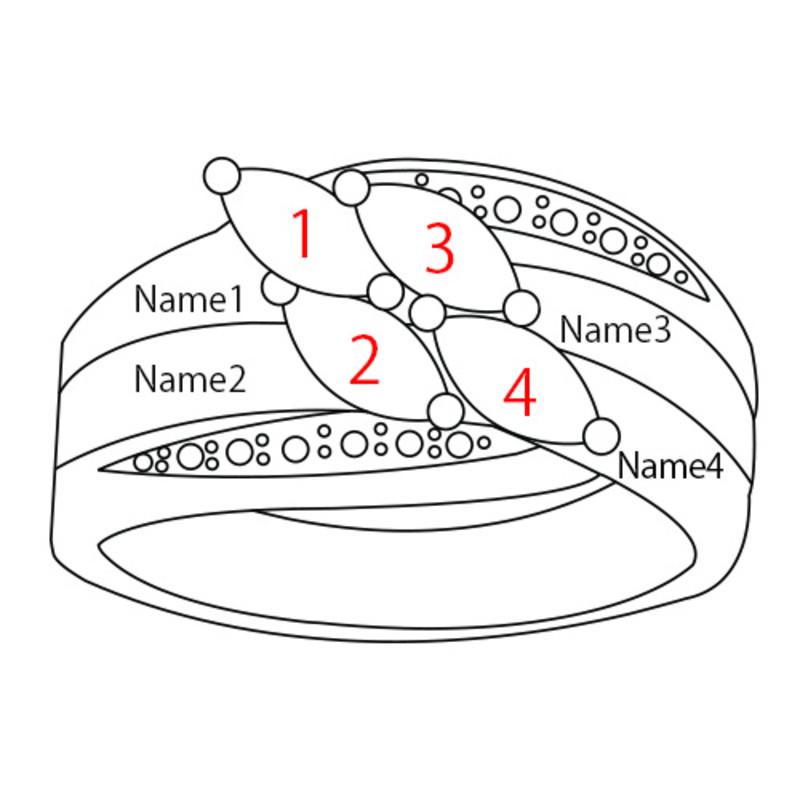 Moeder Ring met Geboortestenen in Goudkleur - 4
