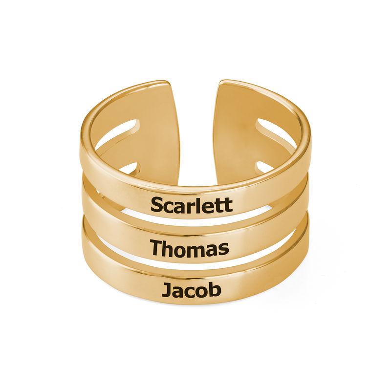Drie geelgoud vergulde naam ringen - 1