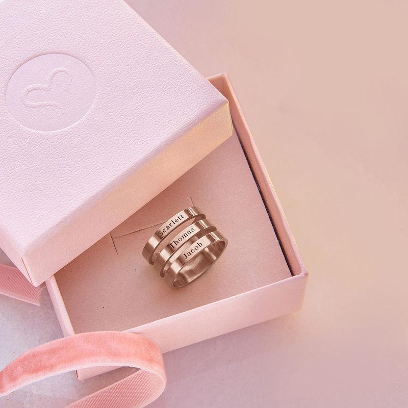 Drie roségoud vergulde naam ringen - 6
