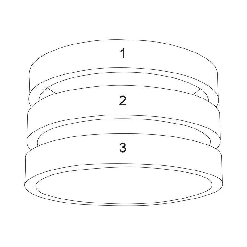 Ring met drie namen in Goud Verguld Vermeil - 4