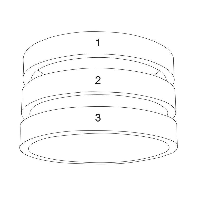 Ring met drie namen in Goud Verguld Vermeil - 7