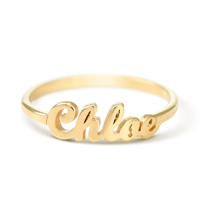 Vergulde Ring met Naam