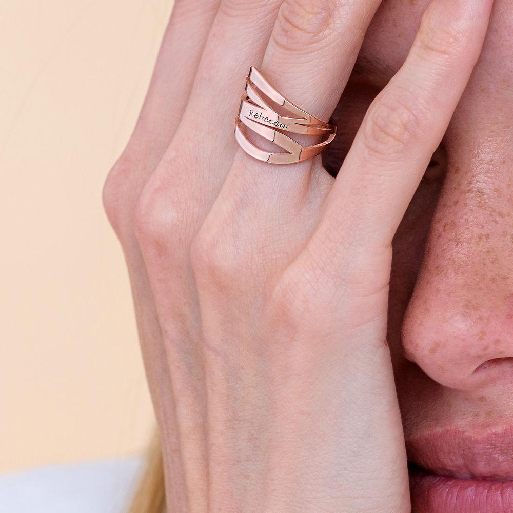 Margeaux Ring in 18K Rosé Goud Verguld - 4