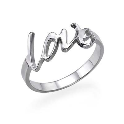 Text Ring in 925 Zilver - 1