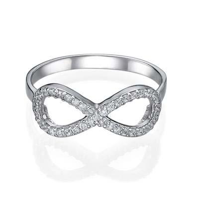 Kubische Zirkonia Infinity Ring in 925 Zilver - 1