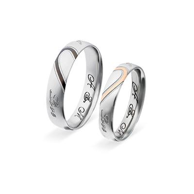 Koppel Belofte Ring Set - Halve Harten