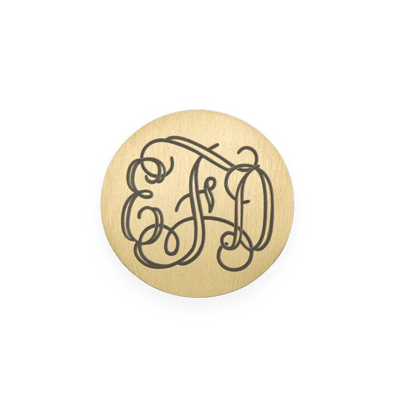 Floating Locket Schijf - Goudkleurige Disc met Monogram