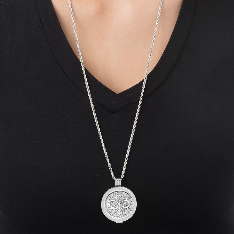 Zilveren Munt met Infinitysymbool - 1