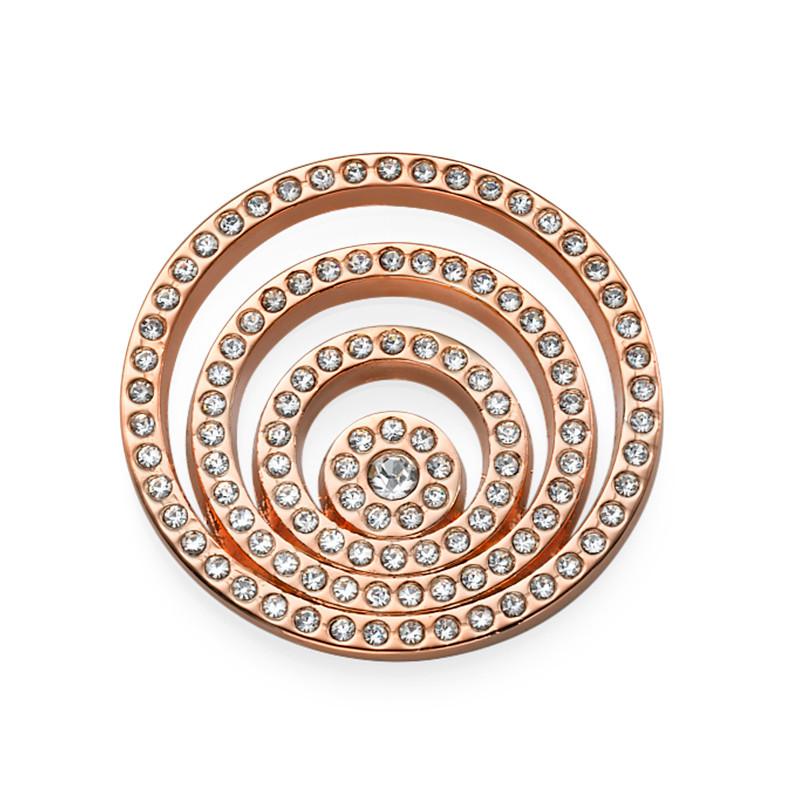 Rosé-vergulde Munt met Spiraal