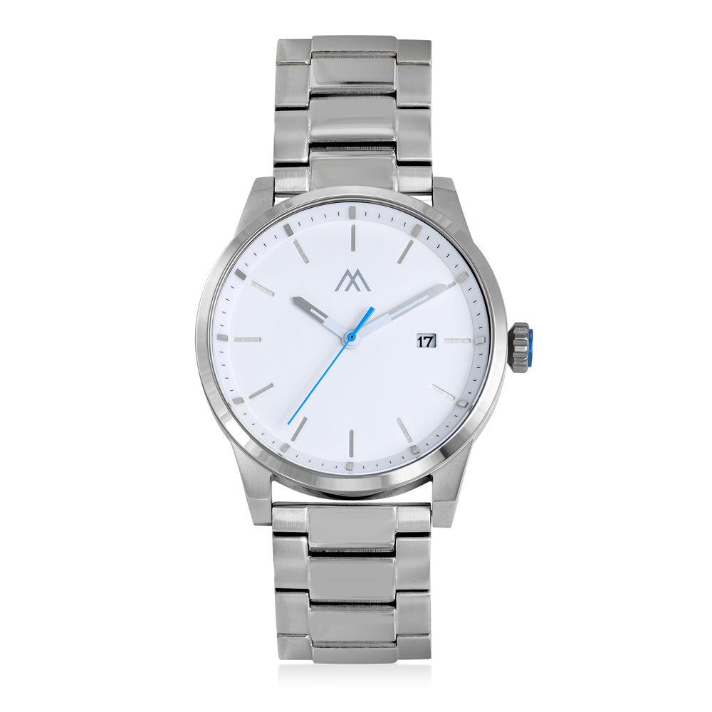 Odysseus Day Date Minimalistisch roestvrijstalen horloge