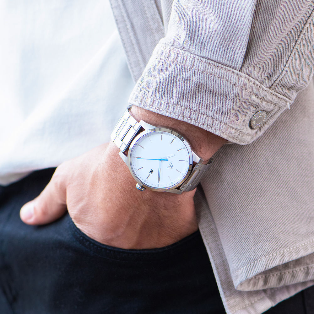 Odysseus Day Date Minimalistisch roestvrijstalen horloge - 7
