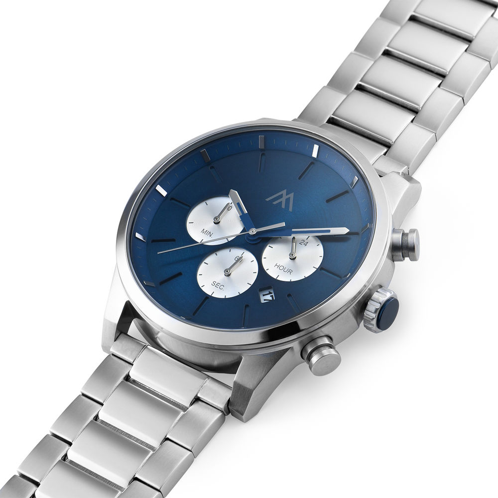 Quest chronograaf kwartshorloge roestvrij staal - 1
