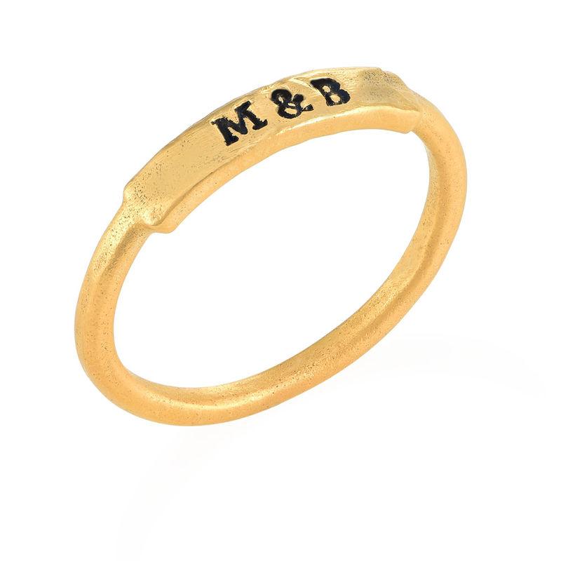 """Vergulde """"Altijd Bij Jou""""- ring met slagletters - 2"""