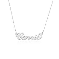 Carrie Stijl Naamketting in 925 Zilver product photo