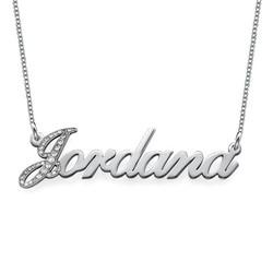 Diamanten Hoofdletter 14k Wit Goud Naam Ketting Productfoto