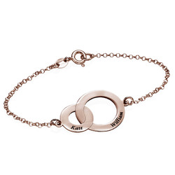 Armband met Verstrengelde Cirkels -Rosé-Verguld Productfoto