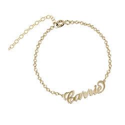 Carrie stijl Naam Armband / Enkelband in Goud Verguld Zilver Productfoto