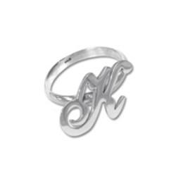 Sierlijke Initiaal Ring in 925 Zilver product photo