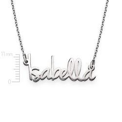 Kleine naamketting voor dames in extra versterkt zilver Productfoto