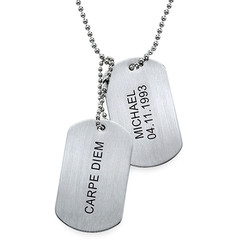Graveerbare Dog Tag Ketting in Roestvrij Staal product photo
