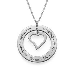 Love My Family Mama Ketting in 925 Zilver Productfoto