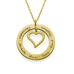 Love My Family Mama Ketting in Goudverguld 925 Zilver product photo