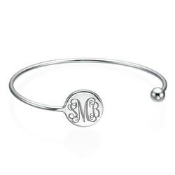 Monogram Bangle Armband in 925 Zilver - Verstelbaar Productfoto