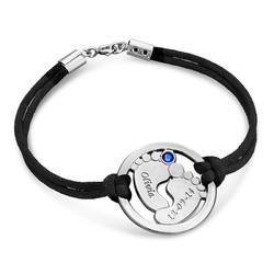 Uitgesneden Babyvoeten Armband in 925 Zilver Productfoto